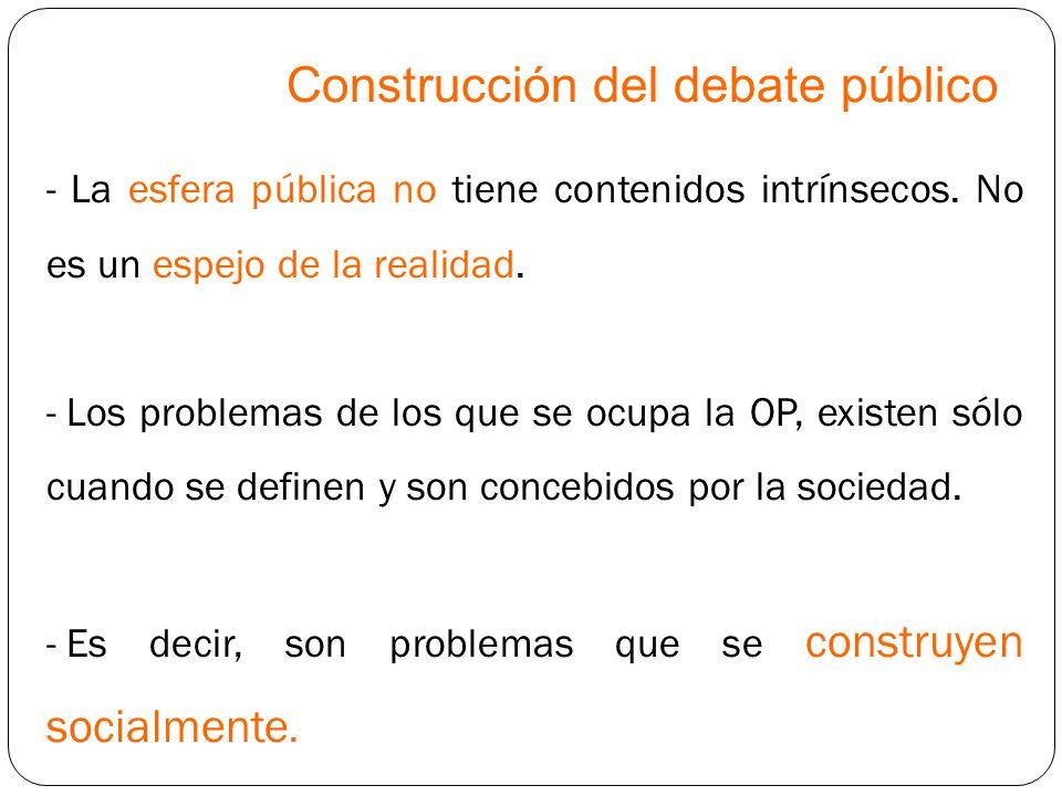 Construcción del debate público