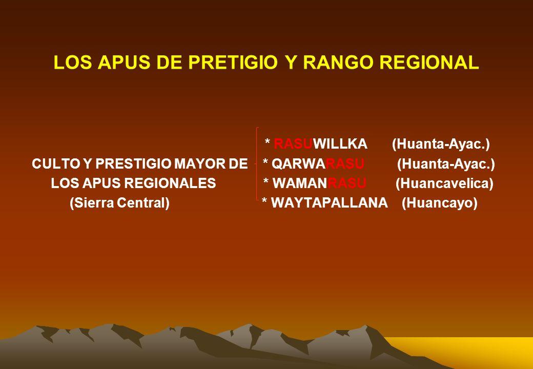LOS APUS DE PRETIGIO Y RANGO REGIONAL