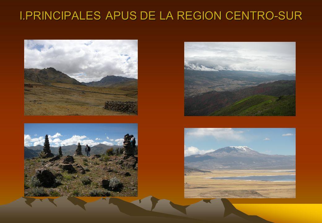 I.PRINCIPALES APUS DE LA REGION CENTRO-SUR