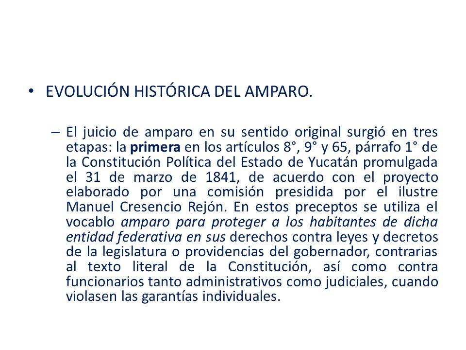 EVOLUCIÓN HISTÓRICA DEL AMPARO.