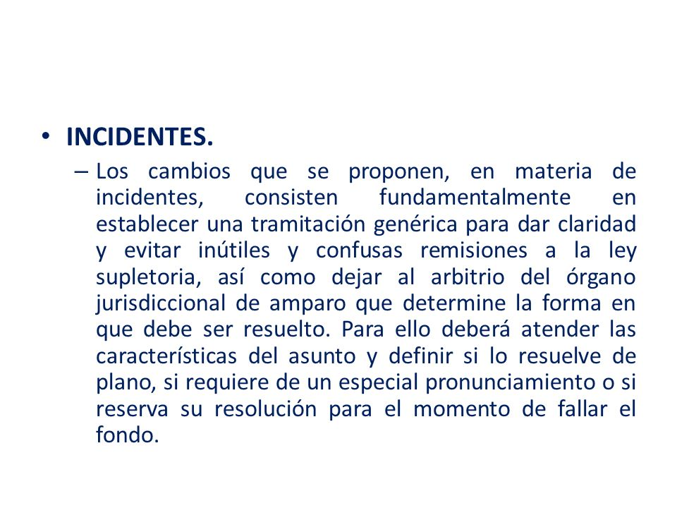 INCIDENTES.