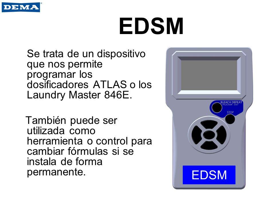 EDSM Se trata de un dispositivo que nos permite programar los dosificadores ATLAS o los Laundry Master 846E.