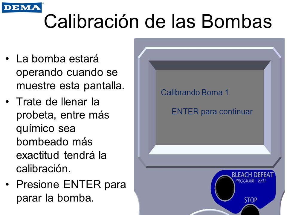 Calibración de las Bombas