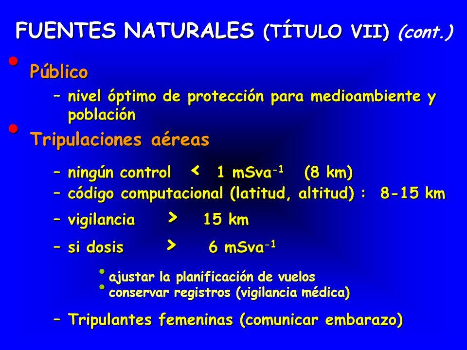 FUENTES NATURALES (TÍTULO VII) (cont.)