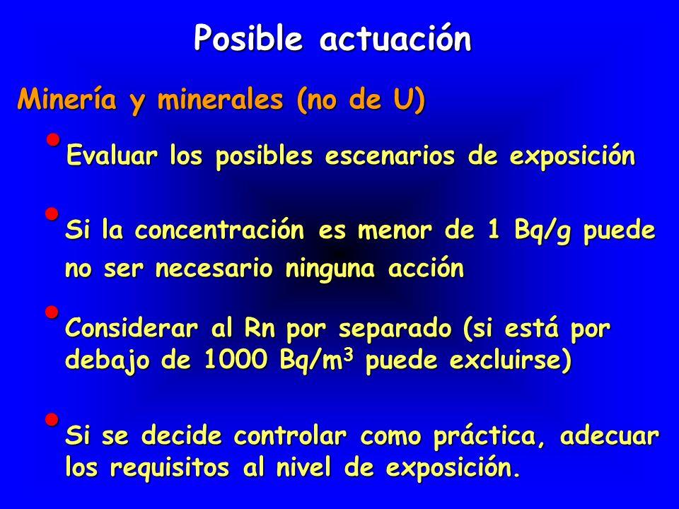 Minería y minerales (no de U)