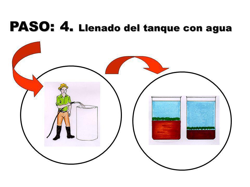 PASO: 4. Llenado del tanque con agua