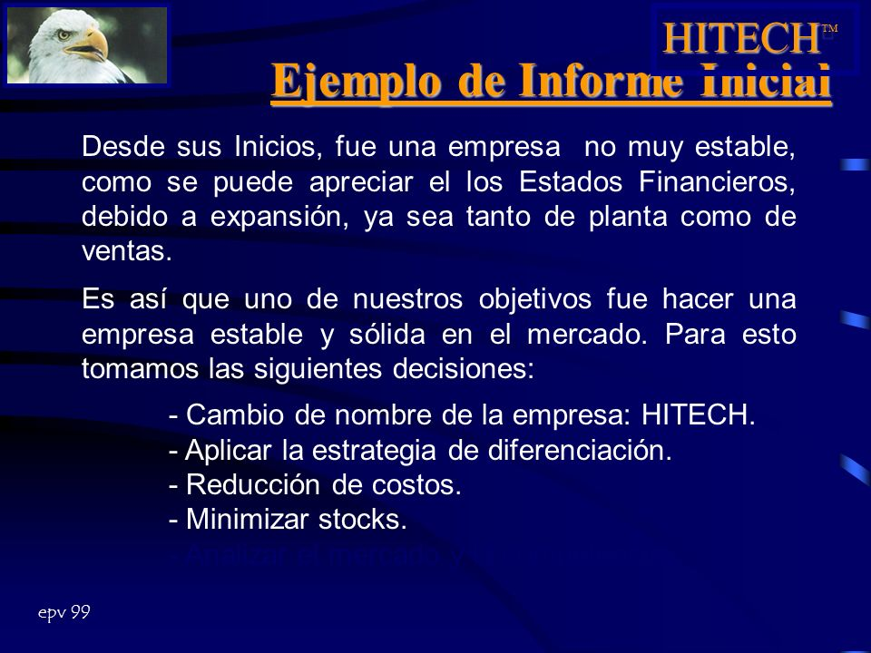 Ejemplo de Informe Inicial