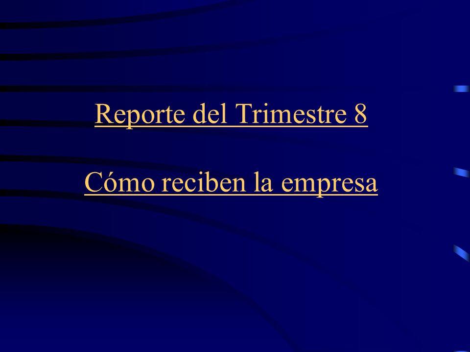 Reporte del Trimestre 8 Cómo reciben la empresa