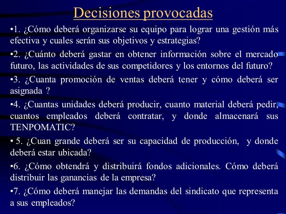 Decisiones provocadas