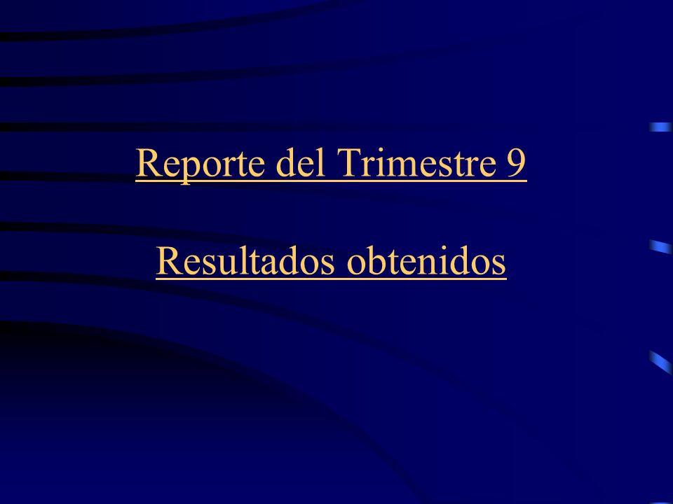 Reporte del Trimestre 9 Resultados obtenidos