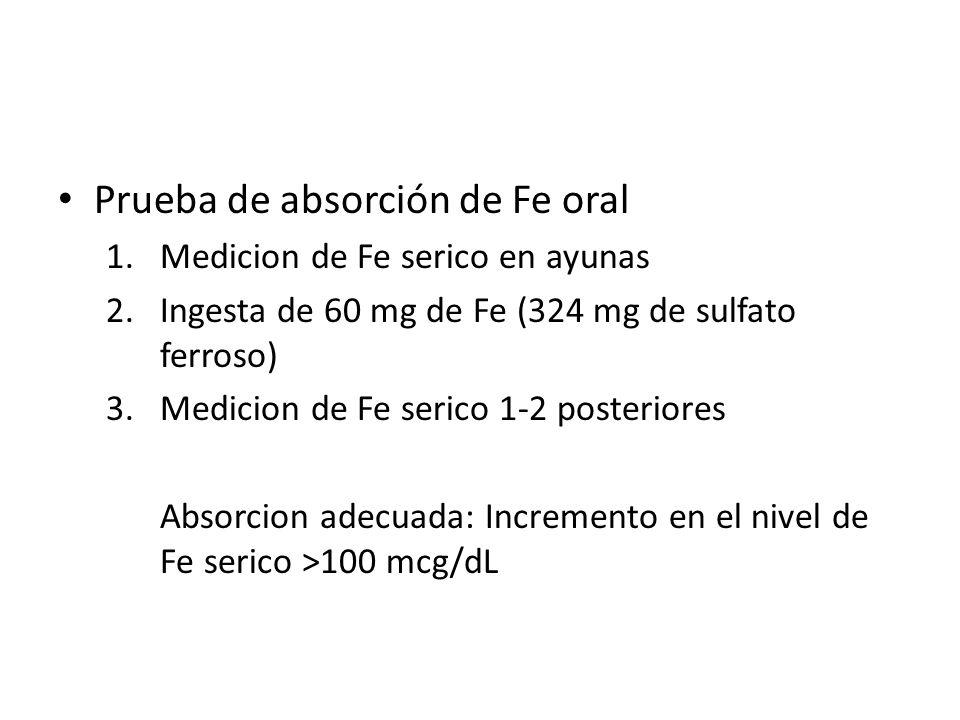 Prueba de absorción de Fe oral