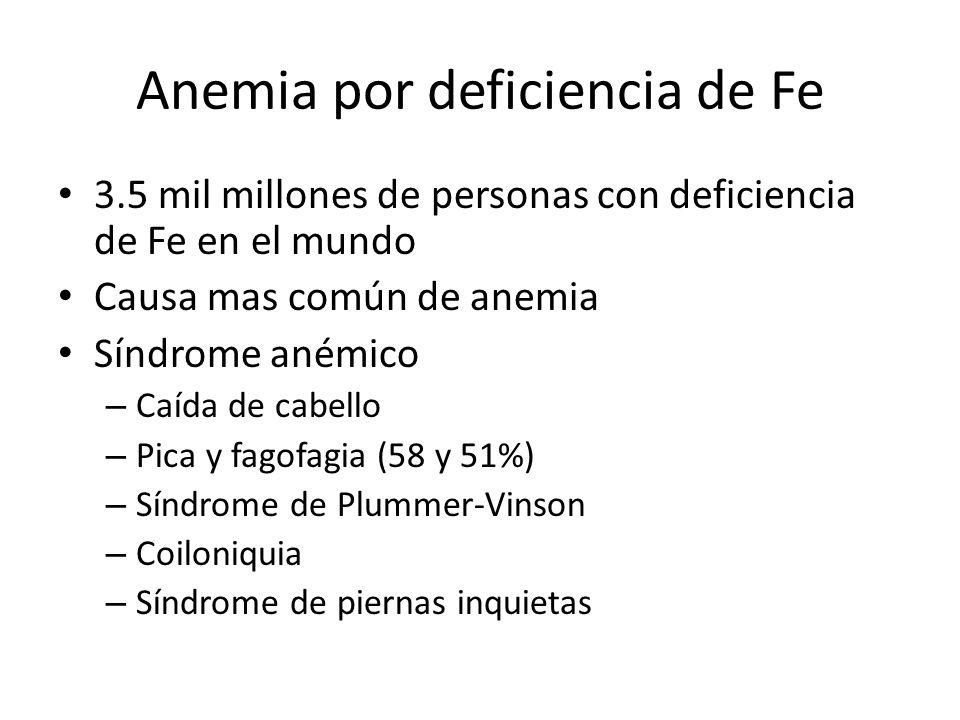 Anemia por deficiencia de Fe