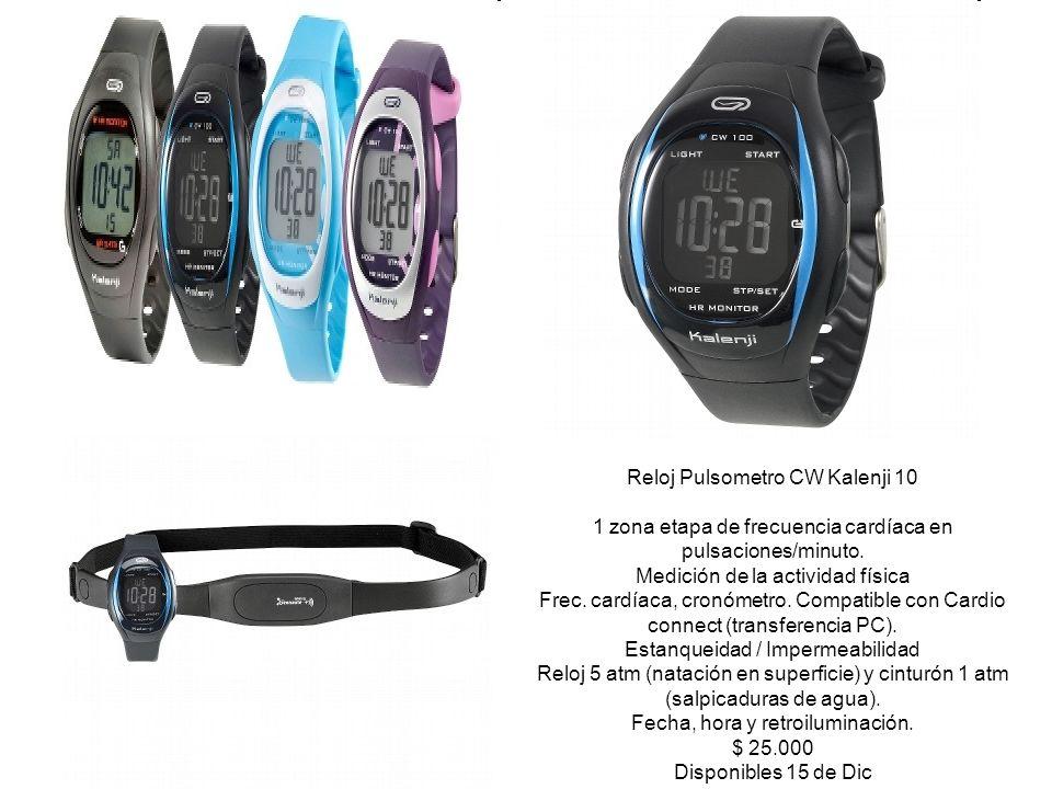 Reloj Pulsometro CW Kalenji 10 1 zona etapa de frecuencia cardíaca en pulsaciones/minuto.
