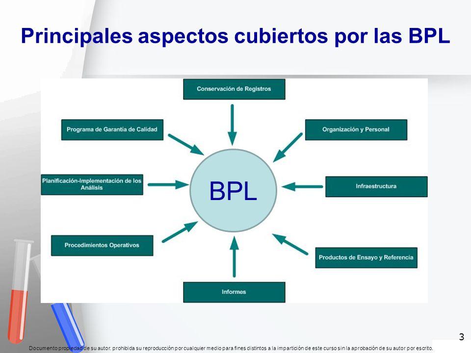 Principales aspectos cubiertos por las BPL