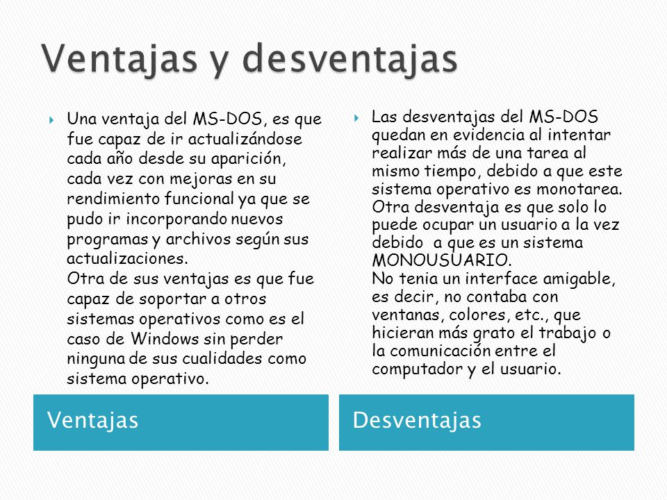 Microsoft disk operating system ppt video online descargar for Ventanas de pvc ventajas y desventajas