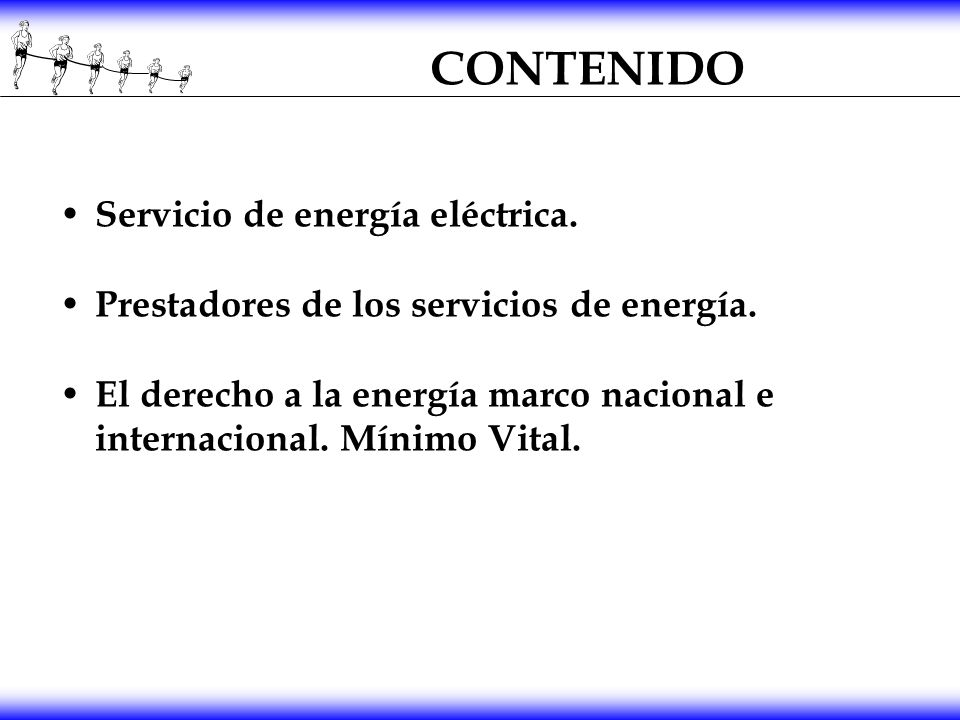 CONTENIDO Servicio de energía eléctrica.