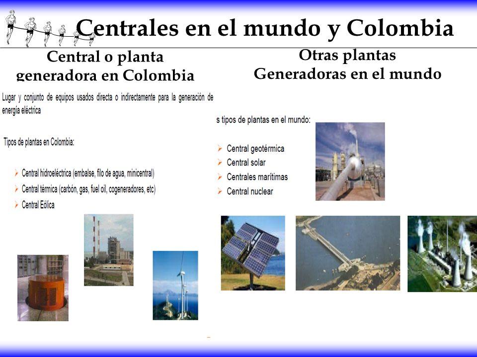 Centrales en el mundo y Colombia