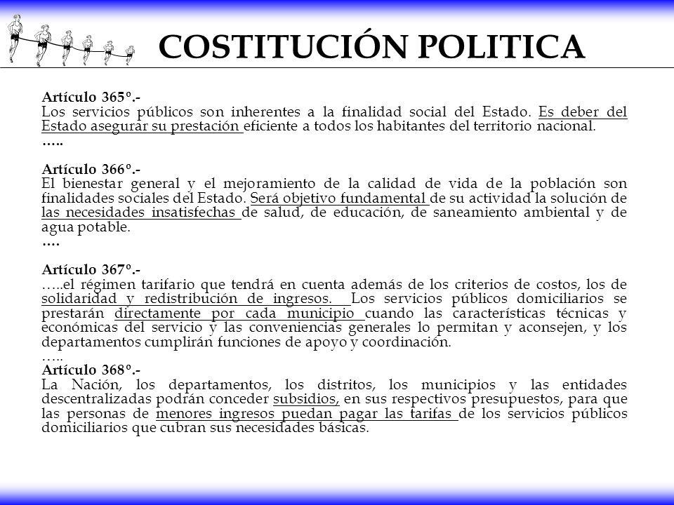 COSTITUCIÓN POLITICA Artículo 365º.-