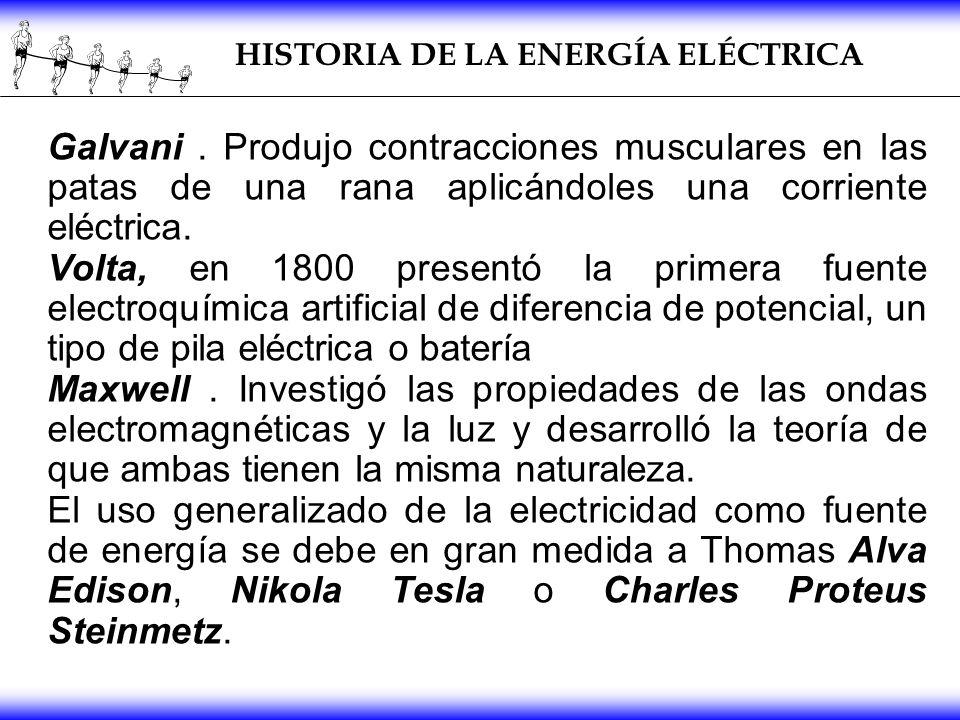HISTORIA DE LA ENERGÍA ELÉCTRICA