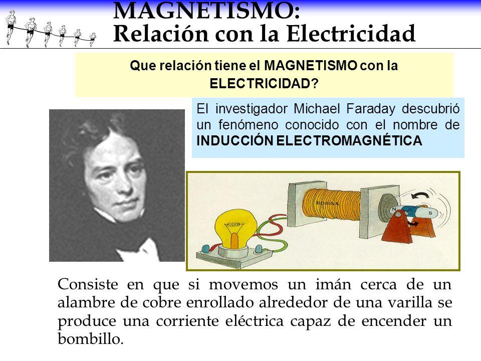 MAGNETISMO: Relación con la Electricidad