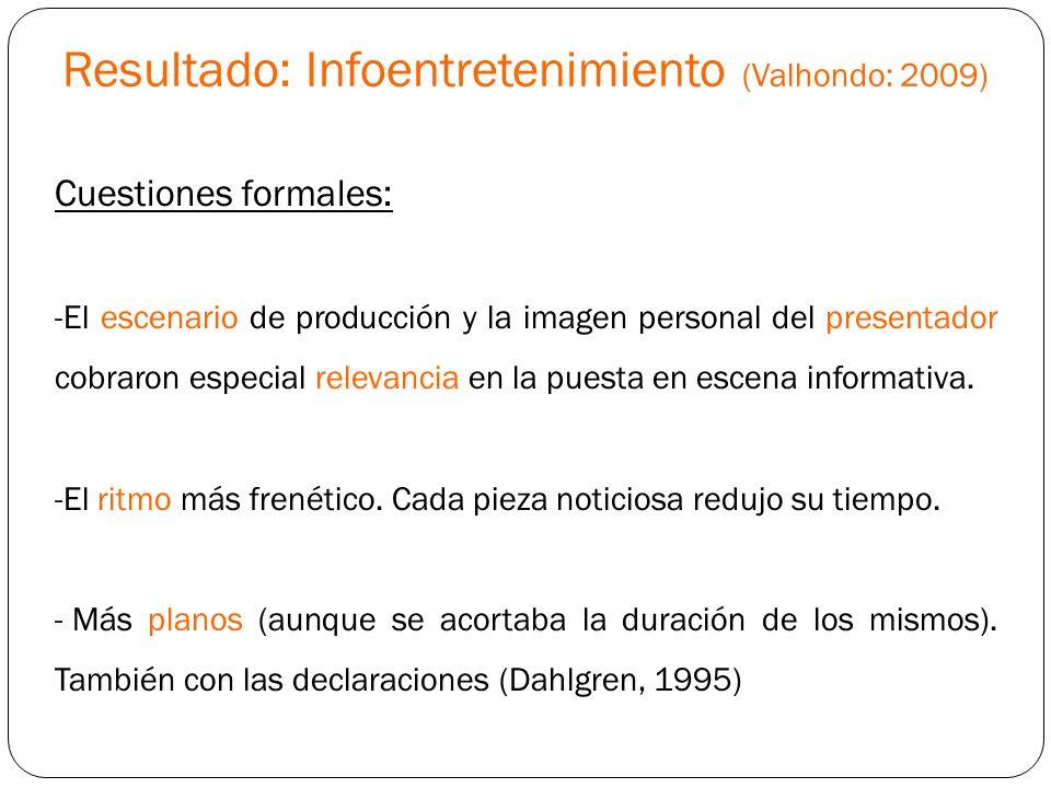 Resultado: Infoentretenimiento (Valhondo: 2009)