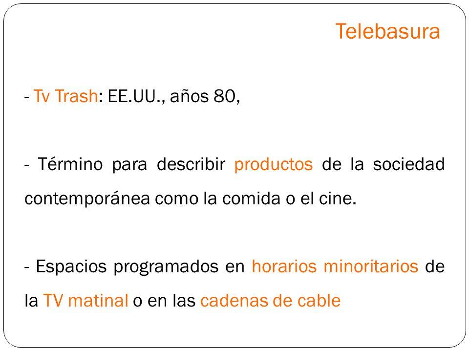 Telebasura - Tv Trash: EE.UU., años 80,