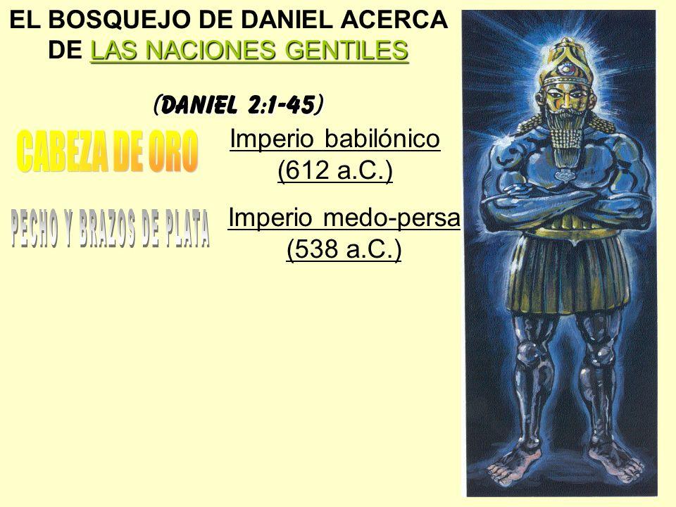 CABEZA DE ORO PECHO Y BRAZOS DE PLATA (Daniel 2:1-45)