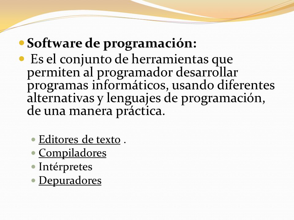 Software de programación: