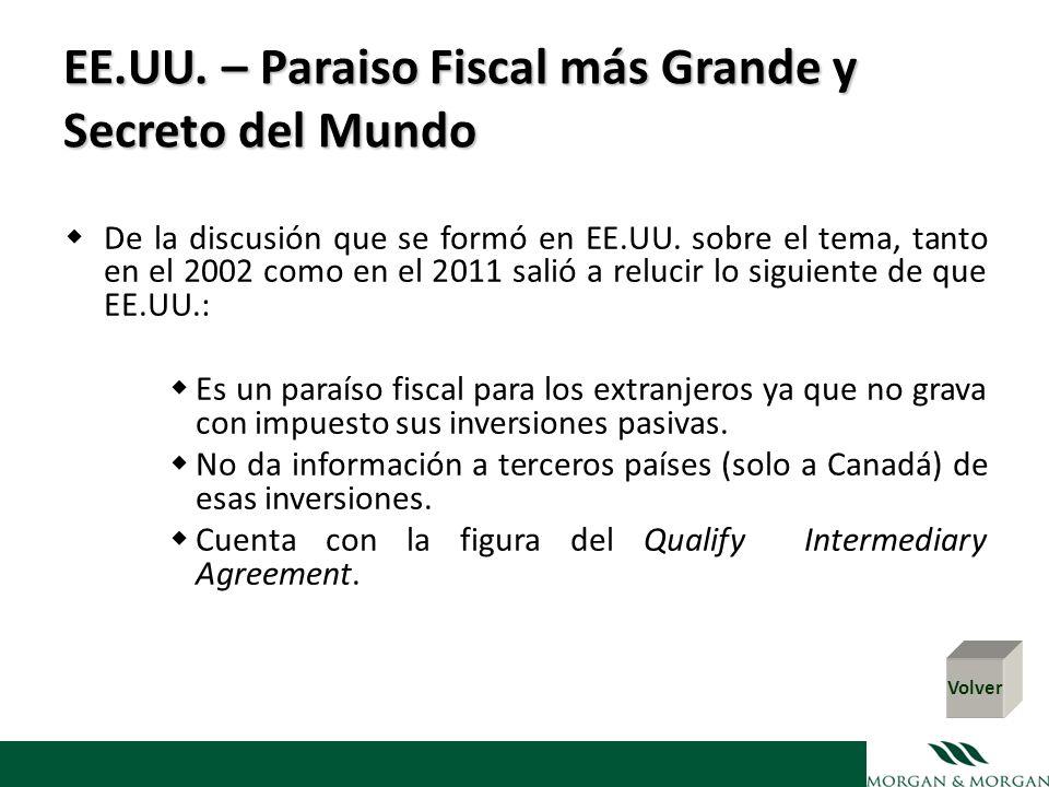 EE.UU. – Paraiso Fiscal más Grande y Secreto del Mundo