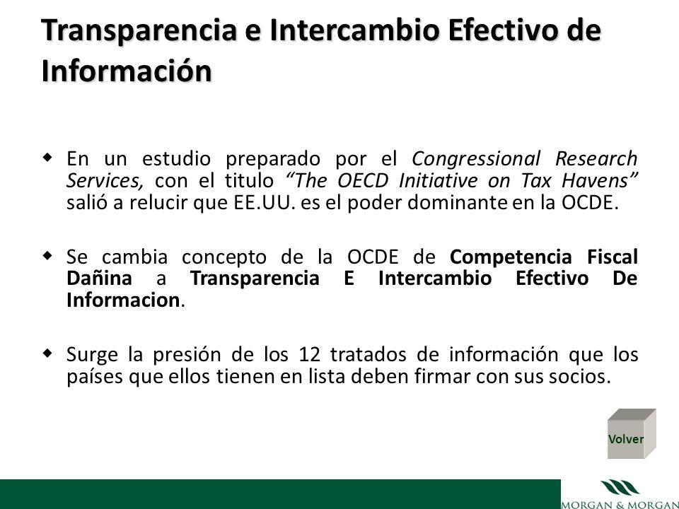 Transparencia e Intercambio Efectivo de Información