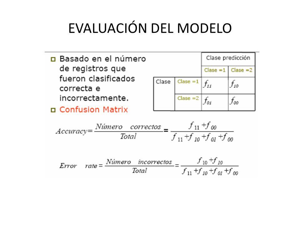 EVALUACIÓN DEL MODELO