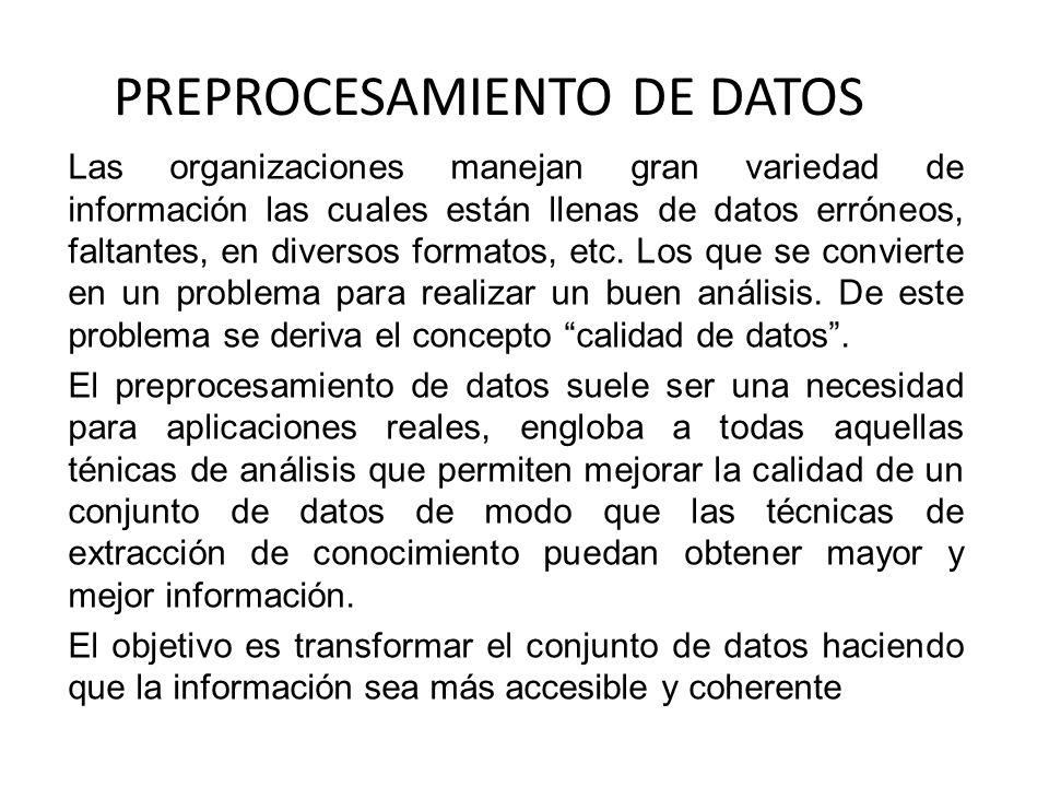 PREPROCESAMIENTO DE DATOS