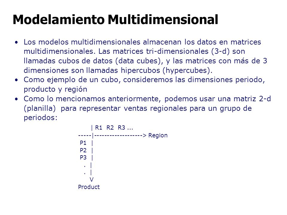 Modelamiento Multidimensional