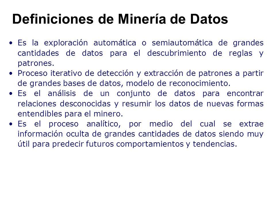 Definiciones de Minería de Datos