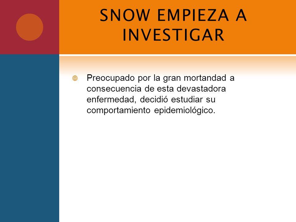 SNOW EMPIEZA A INVESTIGAR