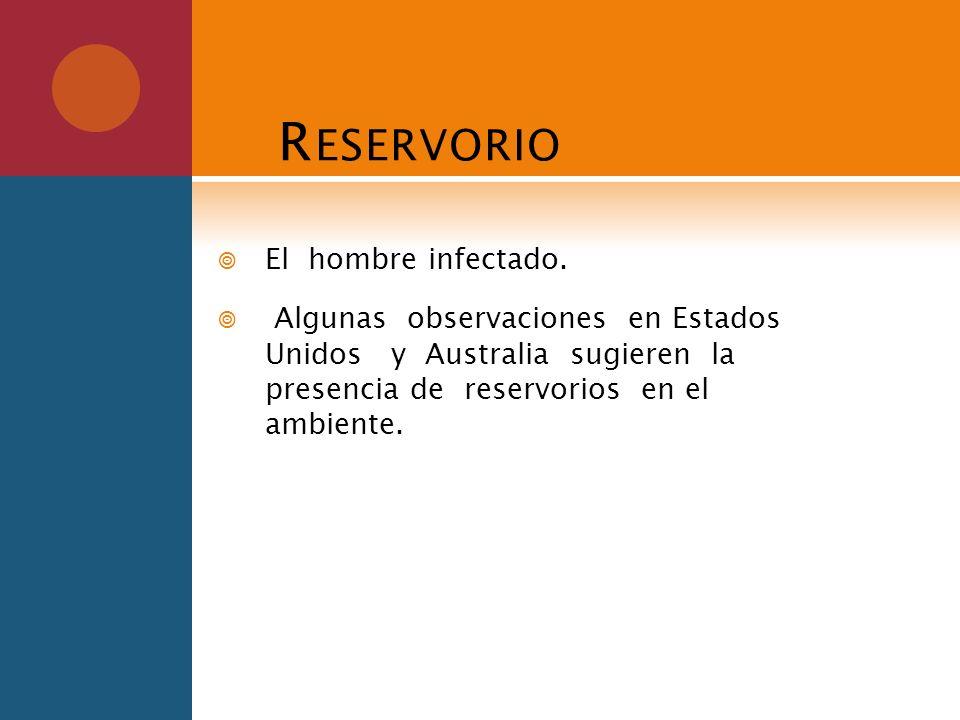 Reservorio El hombre infectado.