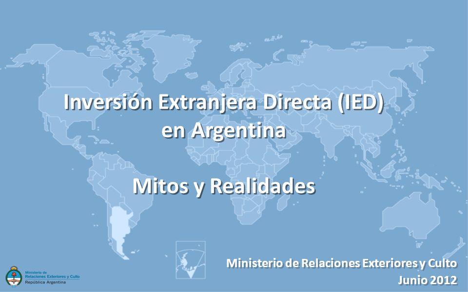 Inversión Extranjera Directa (IED) en Argentina