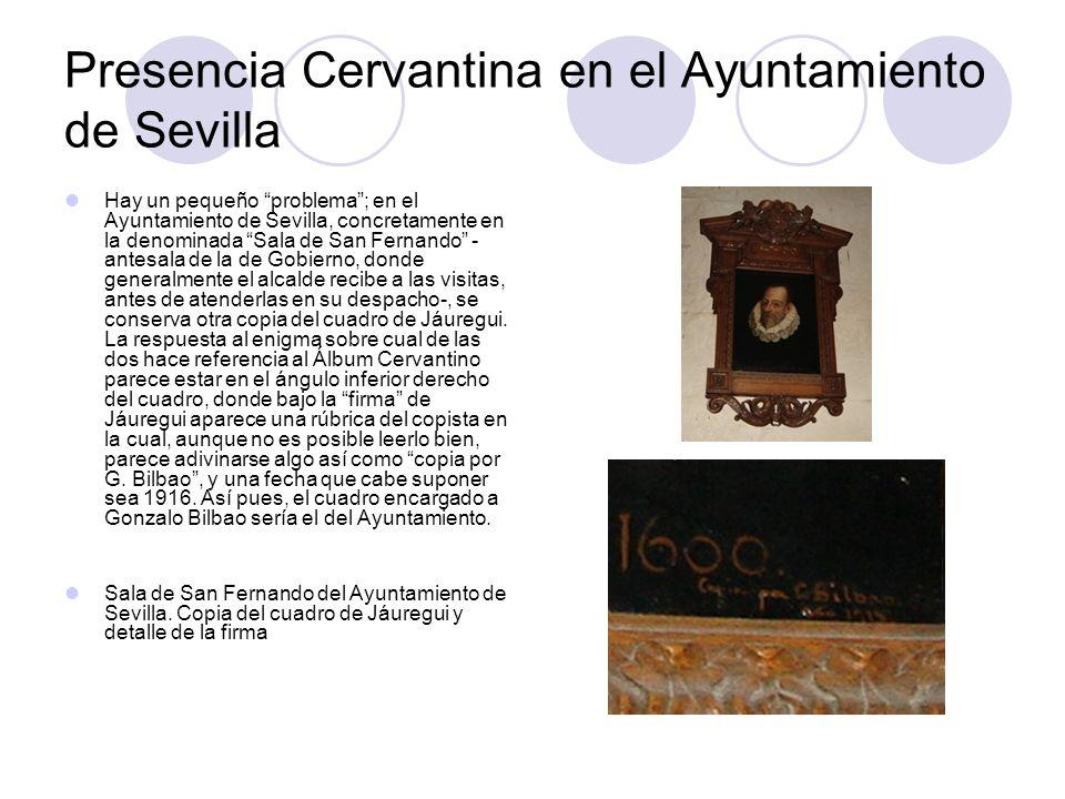 Presencia Cervantina en el Ayuntamiento de Sevilla