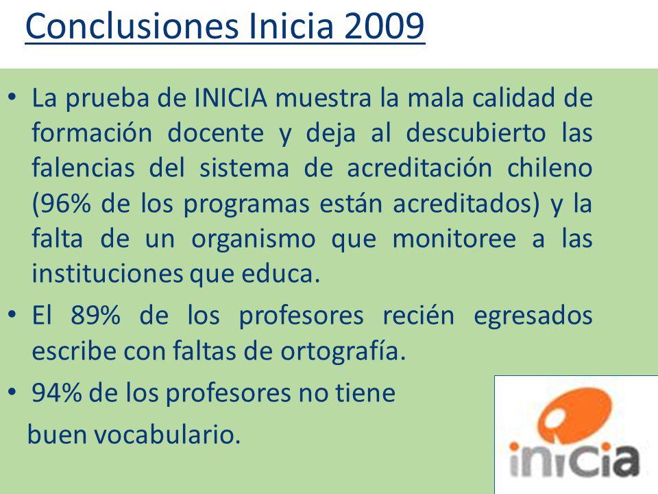Conclusiones Inicia 2009