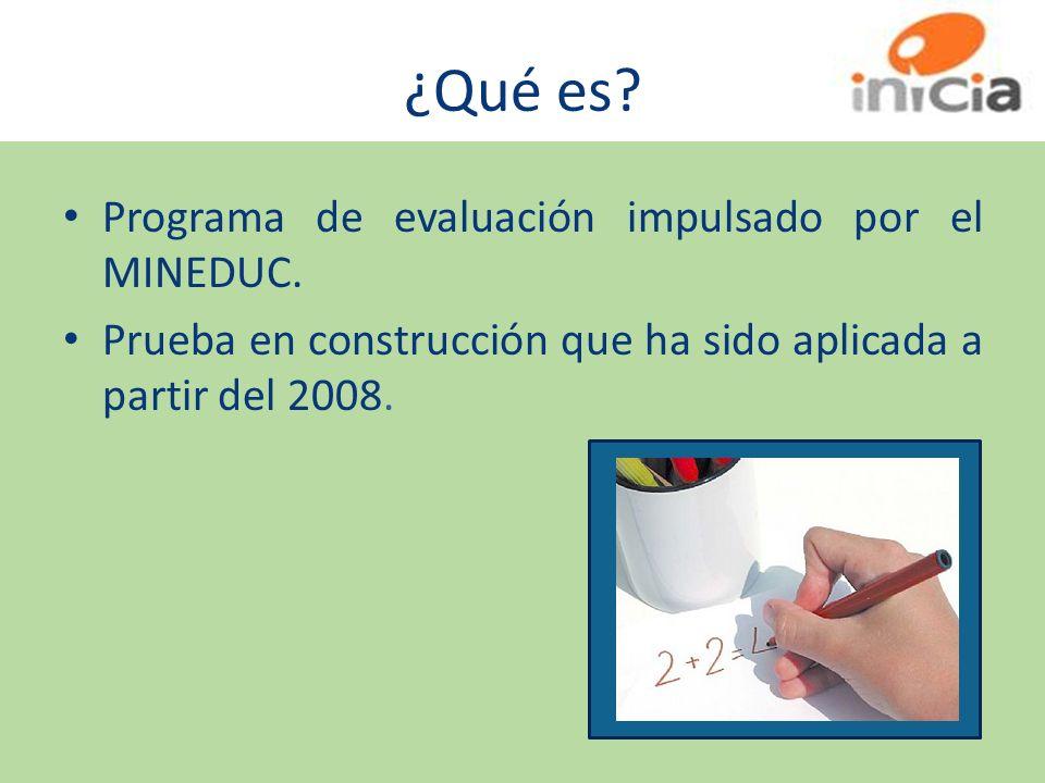 ¿Qué es Programa de evaluación impulsado por el MINEDUC.