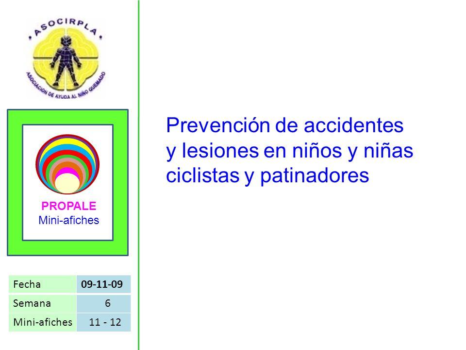 Prevención de accidentes y lesiones en niños y niñas