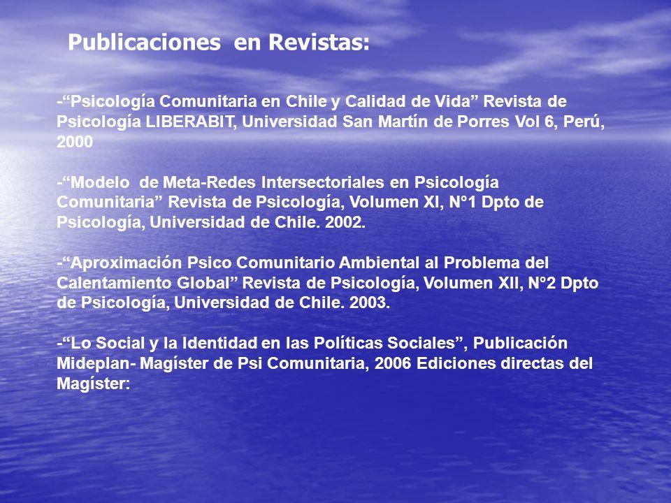 Publicaciones en Revistas:
