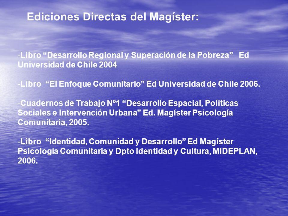 Ediciones Directas del Magíster: