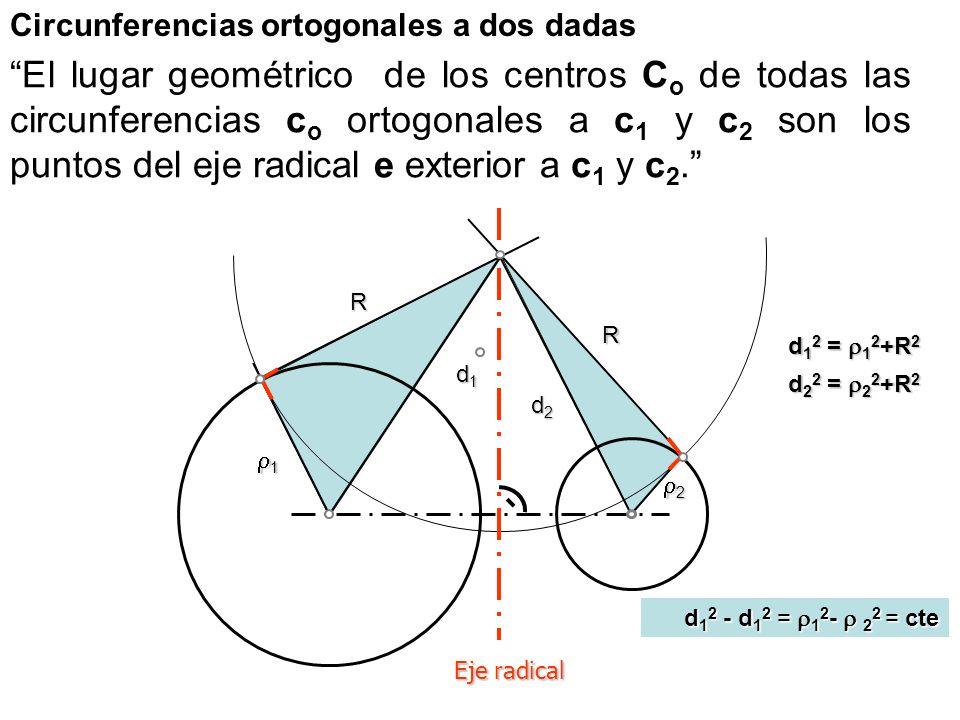 Circunferencias ortogonales a dos dadas