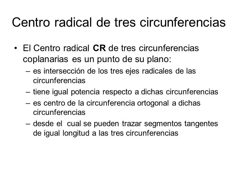Centro radical de tres circunferencias
