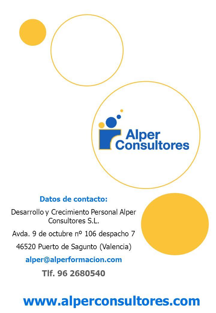 www.alperconsultores.com Tlf. 96 2680540 Datos de contacto: