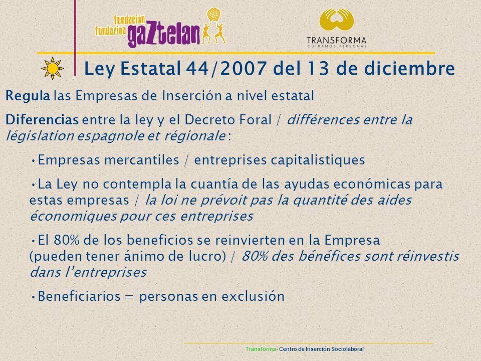 Ley Estatal 44/2007 del 13 de diciembre