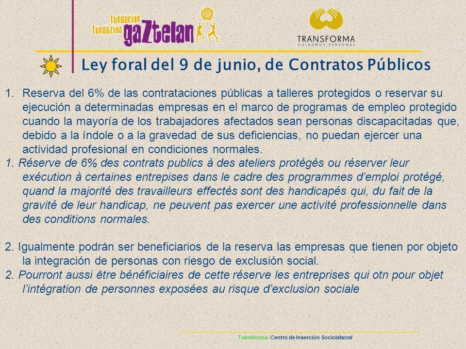 Ley foral del 9 de junio, de Contratos Públicos