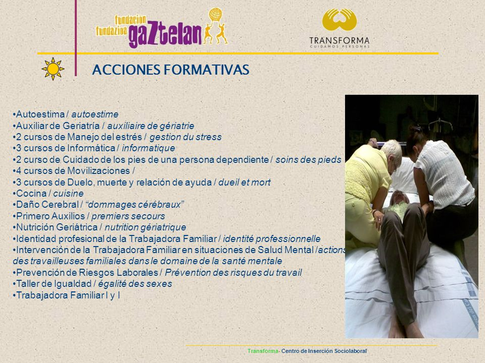 ACCIONES FORMATIVAS Autoestima / autoestime