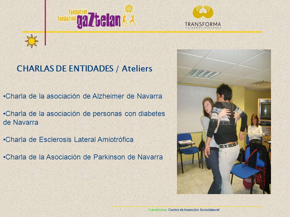 CHARLAS DE ENTIDADES / Ateliers